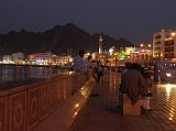 Mutrah is especially beautiful at night with the lights reflecting off the water and the white facades of the old merchants' houses that front the promenade.